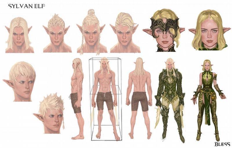 Sylvan Elf Character Concept Art