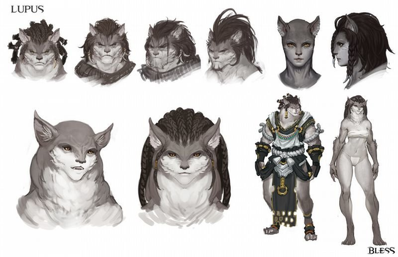 Lupus Character Concept Art
