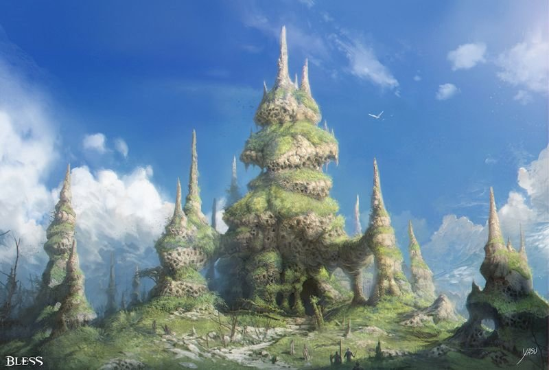 The towering Termite Tower of Bran Forest